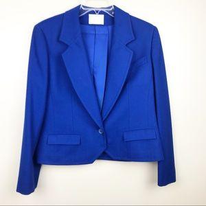Vintage Pendelton wool blue blazer women's 12